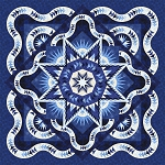 Quilt Kit for Glacier Star in Bohemian Blues - by Quiltworx   **Or your preferred colors**