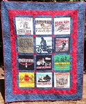 T-Shirt Memory Quilt made with your t-shirts