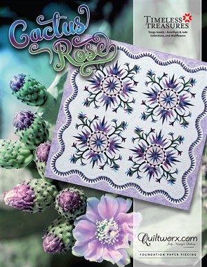 Quilt Kit  or pattern for 2019 Cactus Rose by Judy Niemeyer / Quiltworx