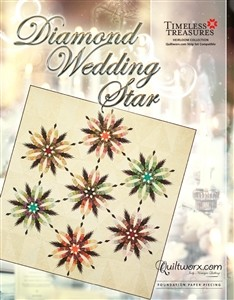 Quilt Kit  or pattern for Diamond Wedding Star by Judy Niemeyer / Quiltworx *Custom Colorway available*