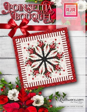 Poinsettia Bouquet Paper Piecing Pattern