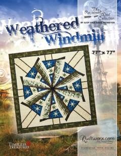 Weathered Windmill Paper Piecing Pattern