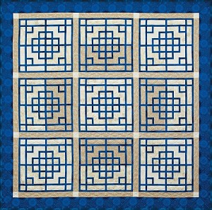 Quilt Kit for Chinese Lattice by Judy Niemeyer / Quiltworx in Bohemian Blues* or your favorite colors using Quiltster